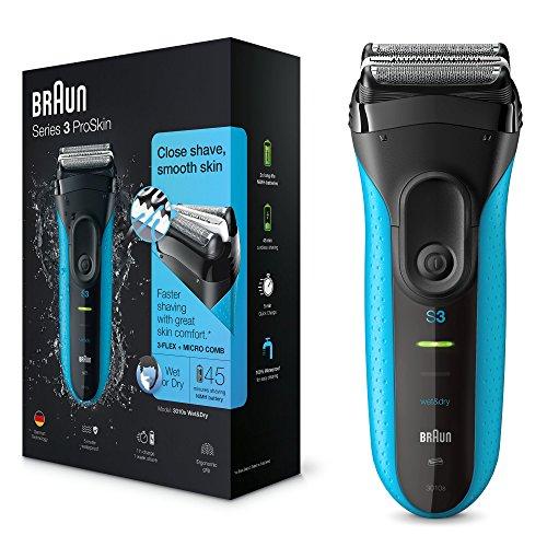 Braun Series 3 ProSkin 3010s - Rasoir électrique rechargeable sec et humide / Rasoir rechargeable (usage sec et humide)....