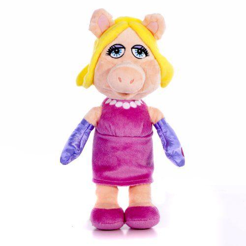 Disney Muppets Flopsies Miss Piggy - Cochon en peluche (25,4 cm)