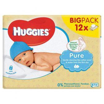 Huggies Pure Lingettes Bébé