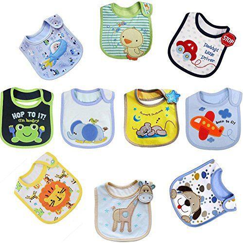 Tomkity 10 bavoirs bébé
