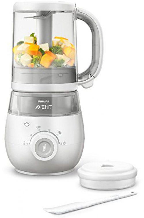 Philips Avent SCF875/02 - Robot de cuisine pour bébés 4 en 1, blanc