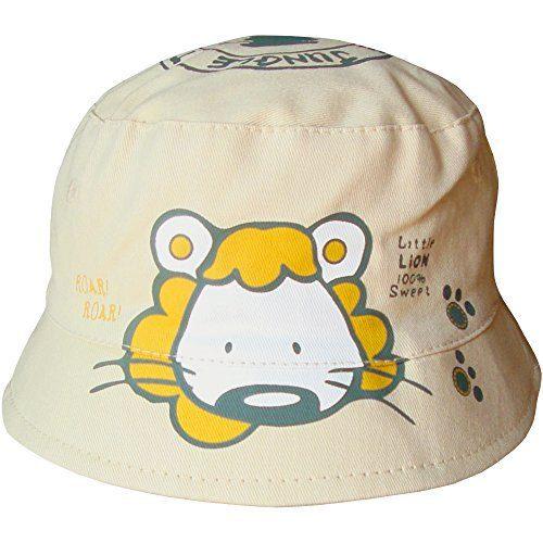 Chapeau de plage unisexe Lion de plage Safari Cube Style Cube