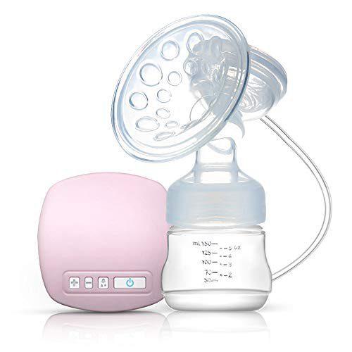 Decdeal - tire-lait électrique rechargeable avec coussin de massage, sans BPA, rose