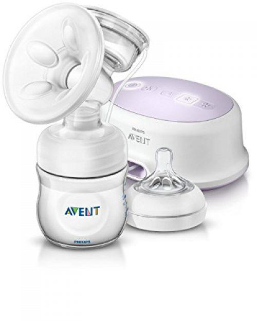 Philips Avent SCF332/01 - Tire-lait électrique, tire-lait électrique, avec coussin de massage doux, bouteille incluse