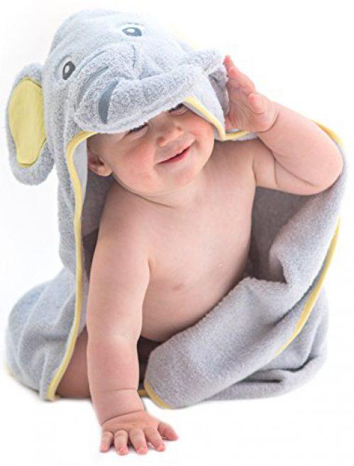 Serviette de bain pour bébé Little Tinkers World avec capuche éléphant EXTRA SOFT - serviette de bain pour bébé 100% coton....