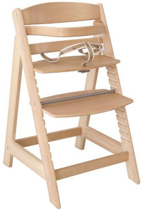 chaise haute roba Sit Up III, chaise haute auto-ajustable qui peut être utilisée comme chaise haute pour bébés et comme chaise pour jeunes, en bois massif,....