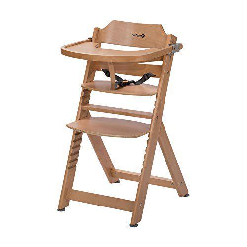 Safety 1st TIMBA, Chaise haute en bois pour enfants, coloris naturel