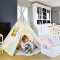 Zig Zag Bleu Abitare Kids Kids Tipi. Tentes pour enfants avec...