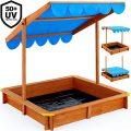 Bac à sable Deuba Infantile avec toit pivotant réglable et tapis 120 x 120....