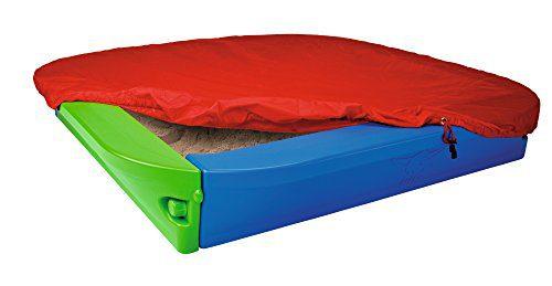 BIG 56726 - Bac à sable avec couverture bleu / vert (Importé d'Allemagne)