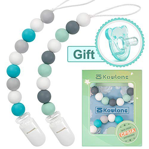 Sucettes à chaîne Clip en silicone Clip Sucette pour sucette d'enfant Sucette de dentition Dummy Mam Soothie Clip sans BPA Douche Cadeau
