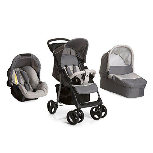 Hauck Shopper SLX Trio Set - Voiture d'enfant 3 pièces de nacelle, poussette et Groupe 0+ pour nouveau-nés....