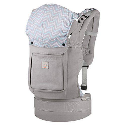 GAGAKU Sac à dos ergonomique porte-bébé avant et arrière 3 positions de transport - Gris