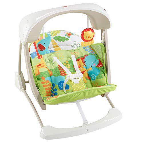 Fisher-Price - Hamac balançoire portable 2 en 1 pour nouveau-né (Mattel CCN92)