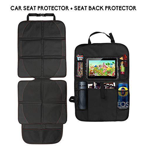 Ensemble de protecteur de siège d'auto et d'organiseur de siège, housse de protection contre le vent pour sièges d'auto avec support....