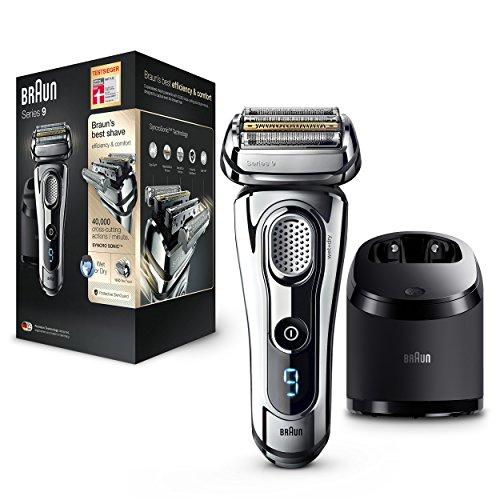 Braun Series 9 Premium - Rasoir électrique avec technologie Wet&Dry, couleur chrome