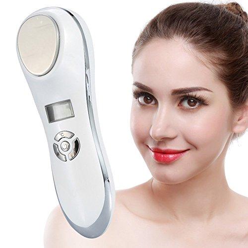 Masseur facial anti-rides et détend le visage avec des vibrations à haute fréquence avec une température de 5 à 42 degrés,....