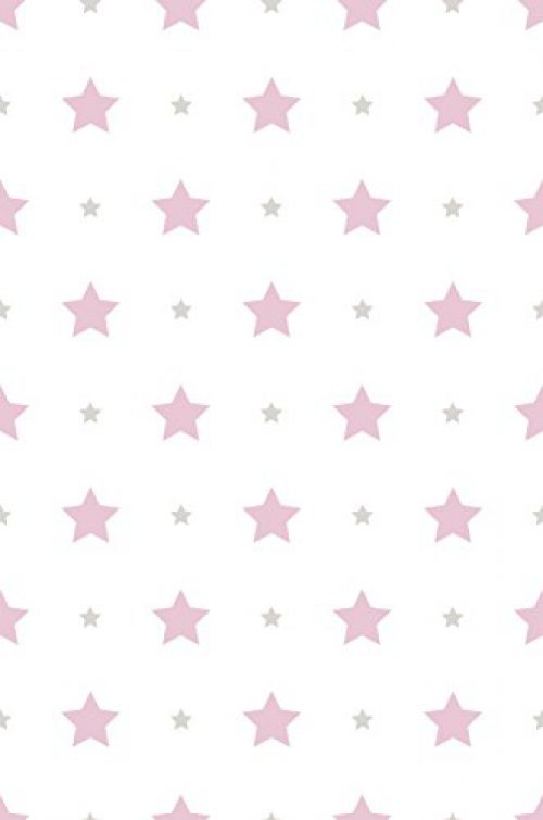 Papier peint Dandino Children's Stars, Rose