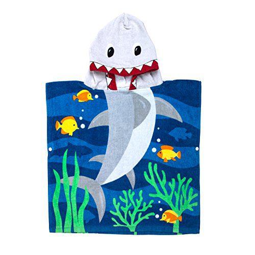 Serviette de bain à capuchon Ponchos (Requin)