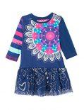 Desigual Vest_cristina - Robe bébé-enfant, bleue (INK BLEU), taille 18 mois