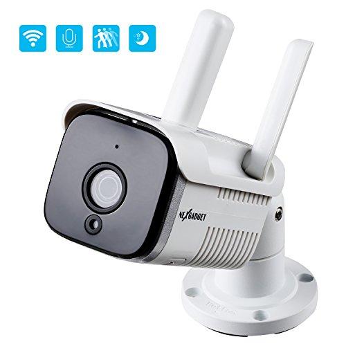 NEXGADGET Caméra de sécurité IP Wifi Mini Audio Bidirectionnelle Micro Haut-parleur....