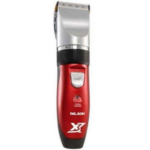 Palson Titanium X3 - Tondeuse à cheveux rechargeable, couleur rouge