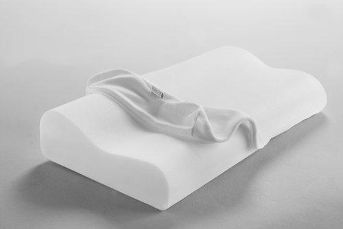 Dormisette Q995, Oreiller pour soutien de nuque viscoélastique et lavable, respirant,....