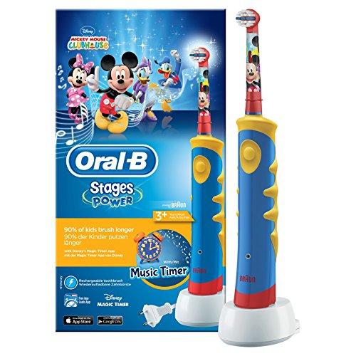 Oral-B Stages Power Kids - Brosse à dents électrique de Mickey Mouse