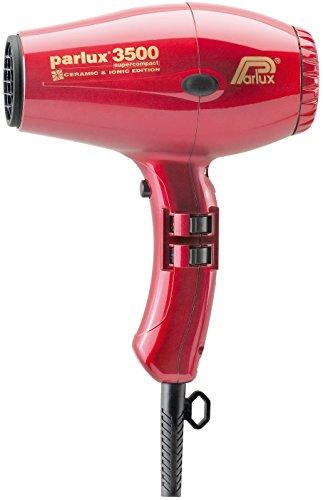Parlux 3500 C + I Red - Sécheur ionique ultra-compact, céramique, couleur....