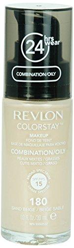Revlon Colorstay 24H, Base de maquillage visage, pour peaux mixtes à grasses, avec....