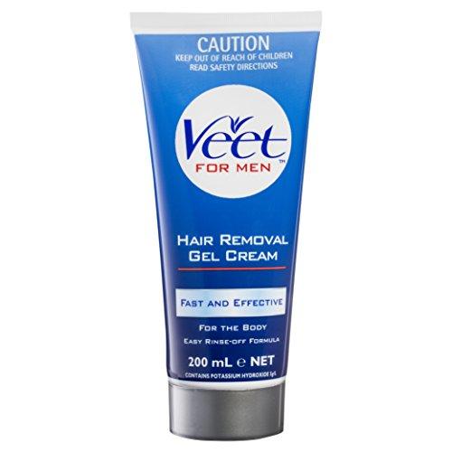 Veet for Men - Gel-crème épilatoire pour hommes, pour peau normale, 200 ml