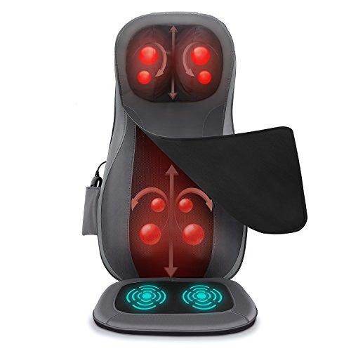 Naipo Dossier Massage Pro Shiatsu Siège de massage Pro Masseur Électrique Cou, Dossier, Cou,....