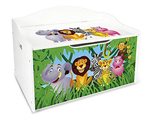 Coffre à Jouets XL Coffre en bois Coffre de rangement Coffre Enfant Quartier Infantile d'Enfants Equipement de Chambre Maternelle d'Enfants Jardin d'enfants....