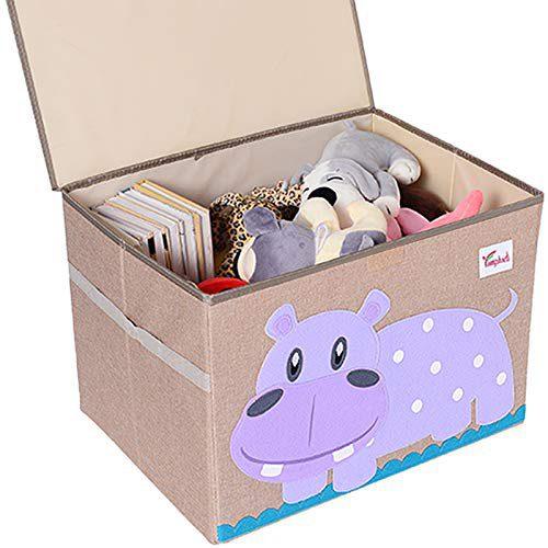 TsingLe - Coffre à jouets avec couvercle, organiseur de rangement, grand, pour ranger jouets, livres, literie,....