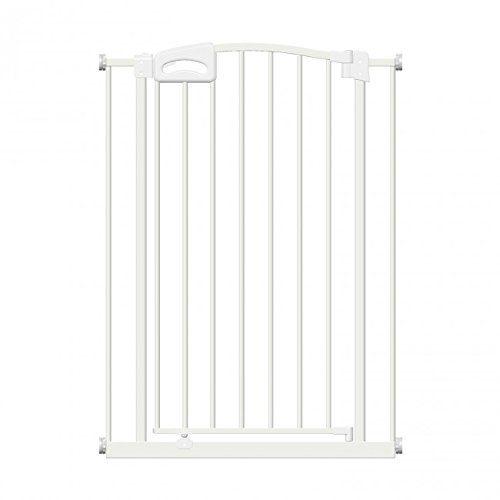 Callowesse CARUSI - Barrière Extra Droite pour Portes et Escaliers 63-70cm - Couleur Blanc