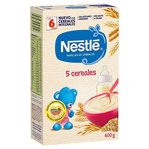 Nestlé Papilla 5 céréales - Aliments pour bébés - Pack de 6x600 g - Total : 3.6kg