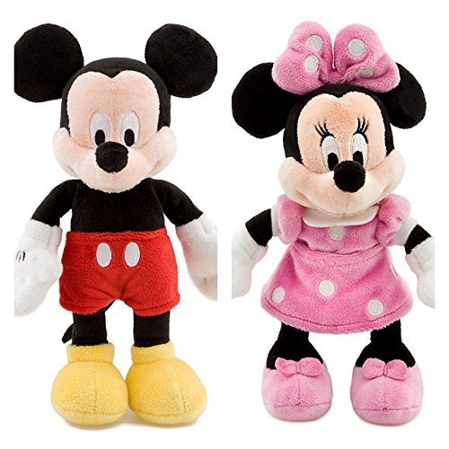 Disney MICKEY MOUSE e MINNIE Peluche Disney Petit Ensemble 20cm The House of Mickey Mouse