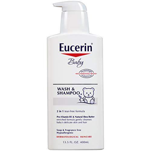 Savon et lavage pour bébé, sans parfum, 400 ml (13.5 fl oz) - Eucerin