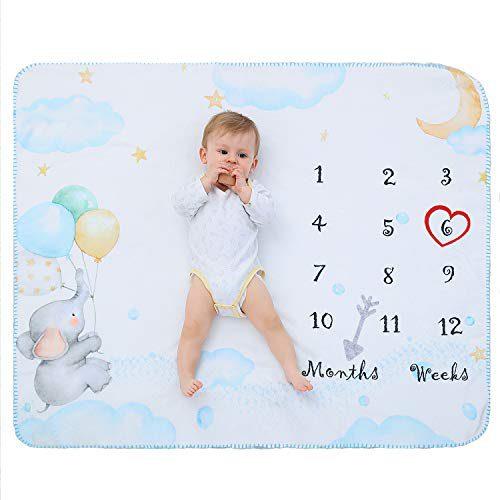 Couverture de bébé polaire avec la photographie douce mensuelle de borne millésimale, couvertures de bébé nouveau-né, couverture de berceuse de bébé pour la fille et le garçon blanc....