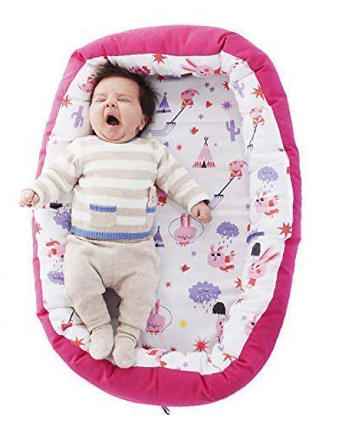 Nid pour bébé Réducteur de nid protecteur de berceau protecteur pour lit amovible Âge 0 à 6 mois Voyage de bébé portatif Fabriqué en....
