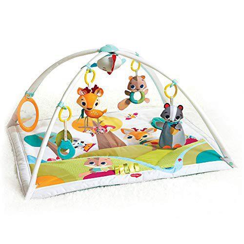 Tiny Love GYMINI DELUXE INTO THE FOREST - Couverture de jeu musicale pour bébés, avec 18 activités de développement,....