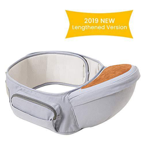 Siège de hanche Wemk avec ceinture réglable Longueur maximale 49.2 pouces/125cm Tabouret ergonomique de taille de porte-bébé Positionné à l'arrière de la...