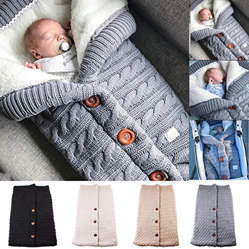 Yinuoday - Couverture bébé nouveau-né avec velours pour poussette, couverture polaire avec doublure polaire douce et chaude....