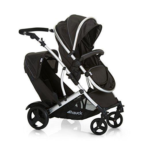 Hauck Duett 2 - voiture jumelée, poussette jumelée, nacelle de naissance, transformation en poussette, siège pivotant, siège amovible,....