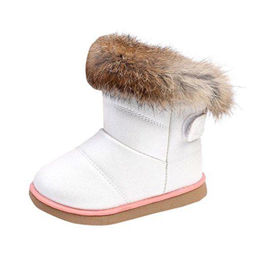 Chaussures bébé Fille Fille Garçon Amlaiworld Hiver bébé filles chaussures en cuir bottes en cuir bottes chaussures chaudes 1-3 ans