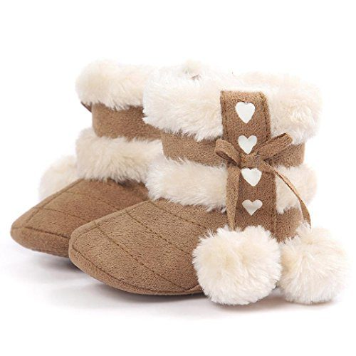 Chaussures bébé hiver, Amlaiworld Chaussures bébé Baby boy Chaussures neige garçon Chaussures bébé chaudes (13 / 12-18Mes, Khaki)