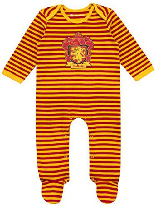 Harry Potter - Pyjama complet avec bavoir pour bébé - Gryffondor - 0-3 mois