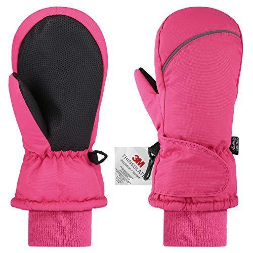 Gants pour enfants Fazitrip, imperméable, ski, vélo, course à pied, etc. (Rose, S)