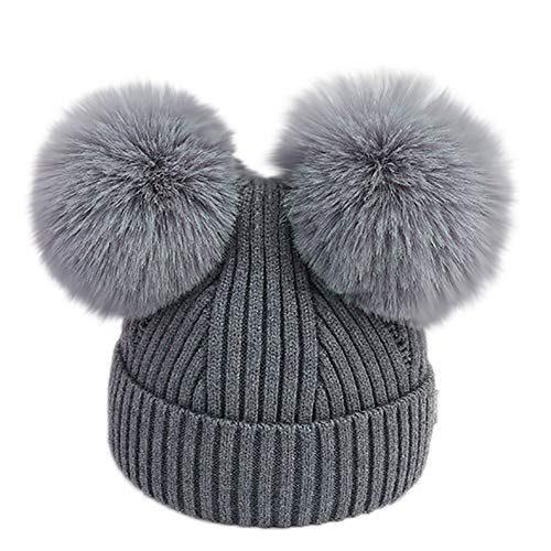 Casquettes pour nouveau-né de 3 à 18 mois Chapeaux d'hiver en tricot pour bébé de 3 à 18 mois...