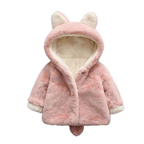 Vêtements bébé, Amlaiworld Bébé garçon fille automne hiver manteau à capuche manteau manteau manteau épais veste vêtements chauds 0-36 mois (Taille:6-12 mois,...